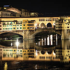 The Ponte Vecchio at night by Alexey Stiop