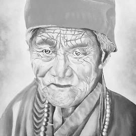 Tibetan Holy Man by Loraine Yaffe