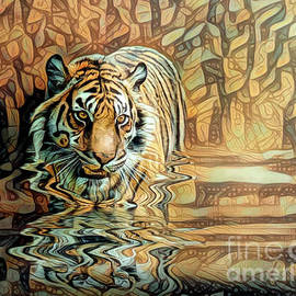 Tiger Reflections 2 by Brian Tarr
