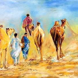 Travel on sand by Khalid Saeed