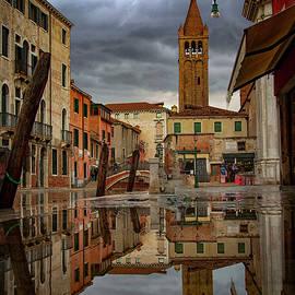 Wonderful reflections in Venice Italy by Rita Di Lalla