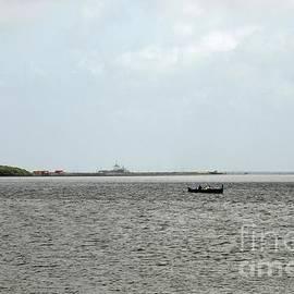 View across the Creek Marina water in Karachi Pakistan by Imran Ahmed