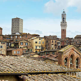 View to the old town in Siena, Italy. by Beautiful Things