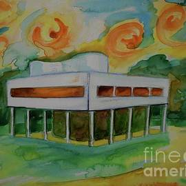 Villa Savoye And Aliens From Space 2 by Leonida Arte