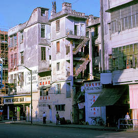 Wanchai Street Hong Kong 1965 by Jerry Griffin