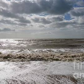 Waves and clouds, windy day, Camber Sands by Paul Boizot