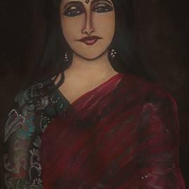 Woman in saree by Tara Krishna