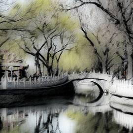 Yinding Bridge In Old Beijing by Toni Abdnour