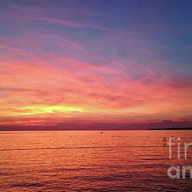 View of beautiful sunset above the Adriatic sea by Beautiful Things