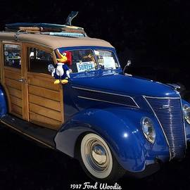 1937 Ford Woodie by Anne Sands