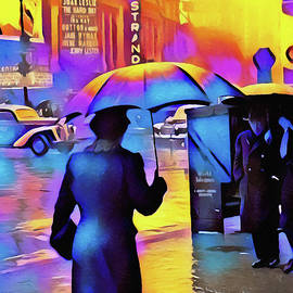 1940s Times Square Rain IIl by Susan Maxwell Schmidt