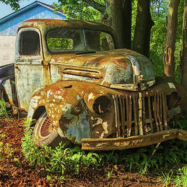 Broken Bent and Battered '46 Ford -  1946fordtruck072721 by Judy Duncan