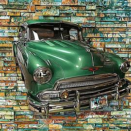 1951 Chevrolet On The Wall by Joan Stratton