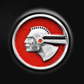 1952 Pontiac Chieftain Rear Fender Badge  -  1952pontiacchieftainbadge140040