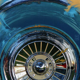 1956 Ford Thunderbird Spare Wheel Painting by Garth Glazier