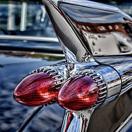 1959 Cadillac Iconic Bullet Lights 1 by Paul Ward