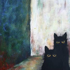 2 Black cats by Iulia Ciuca