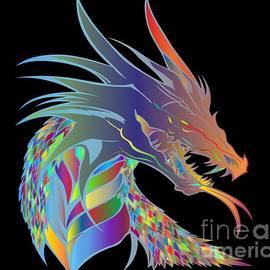 Multi Colorful Dragon by Belinda Threeths