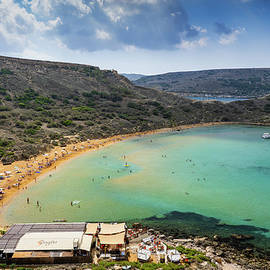 Ghajn Tuffieha Bay And Beach In Malta by Artur Bogacki