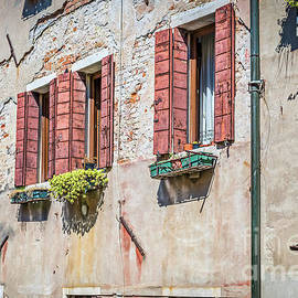 Typical window in a house in old Europe by Beautiful Things