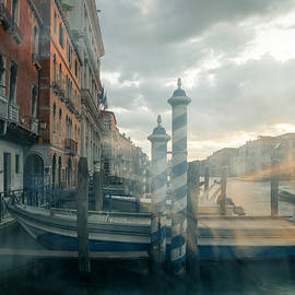 Venice canal Grande. Painterly vision by Casimiro Art