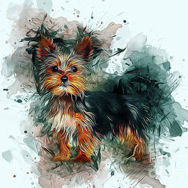 Yorkshire Terrier Art by Ian Mitchell
