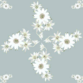 2941-Flannel-Flower-1-20-Teal-Pale by Jennie Holtsbaum