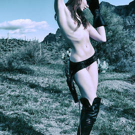 2957 Cowgirl Cate Six Shooter Domme - Cowboy Ranch Editorial Fashion Erotica by Amyn Nasser Fashion Photographer