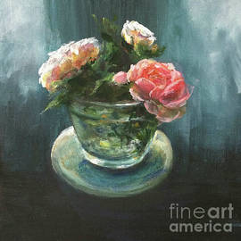 3 Roses in a Jar  by Lizzy Forrester