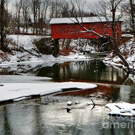 Slaughter House Covered Bridge  by Steve Brown