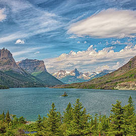 St. Mary Lake along Going-to-the-Sun Road. by Gestalt Imagery