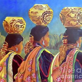 3 Women Native Pottery by Michele B Naquaiya