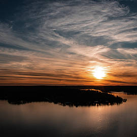 Sunset over Lake of the Ozarks by Laura Simpson