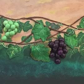 3D Grapevine Under Golden Sky by Sofia Ula