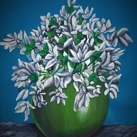 Still life with flowers by Tara Krishna