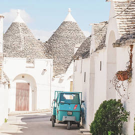 404. Scooter on Alberobello, Puglia, Italy by Julie Travel Photography