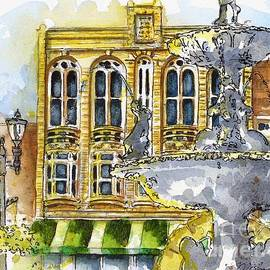 425 Park Row-Fountain Square Park-The Odd Fellows Building by Misha Ambrosia