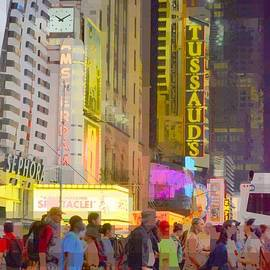 42nd Street Times Square New York - Prints Puzzles and More by Miriam Danar