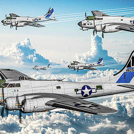 457th Bombardment Group Heavy - Art by Tommy Anderson