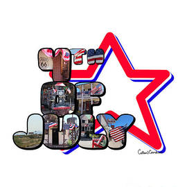 4th Of July Big Letter Star by Colleen Cornelius
