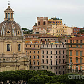 Aerial scenic view of Rome, Italy. Scenery of Roma city. by Beautiful Things