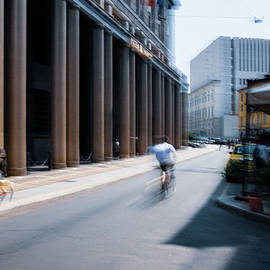 Milan cityscape with movement. Painterly vision by Casimiro Art