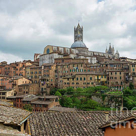 View to the old town in Siena, Italy by Beautiful Things