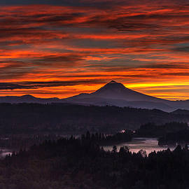7 08 MT Hood Sunrise by Wes and Dotty Weber