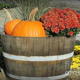 A Barrel of Autumn Joy - Still Life by Dora Sofia Caputo