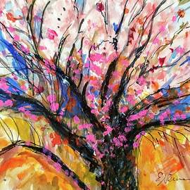 A Blossoming Almond Tree in Spring by Esther Newman-Cohen
