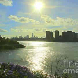 A Blue and Golden Hour Over New York City by Dora Sofia Caputo
