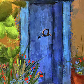 A Blue Door At The Barrio by Lois Bryan