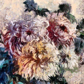 A Bouquet Of Spider Chrysanthemums by Dragica Micki Fortuna