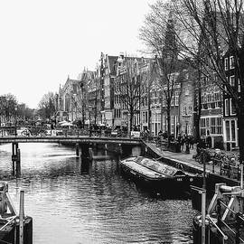 A canal in Amsterdam by Leigh Smith